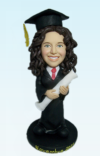 Custom Graduation ceremony bobblehead