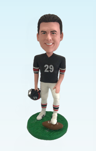 Custom American football player custom bobblehead doll