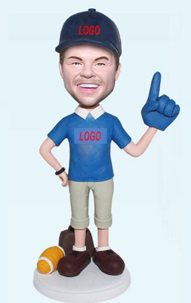 Custom Custom Foam Finger Football Bobblehead