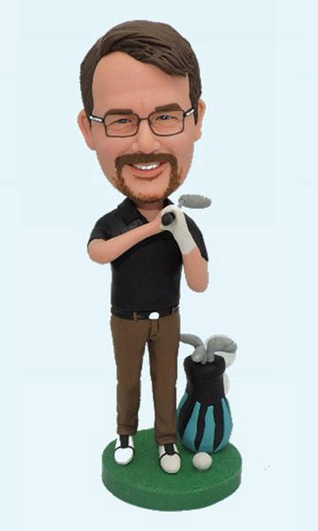 Custom Custom Bobbleheads For Golf Player