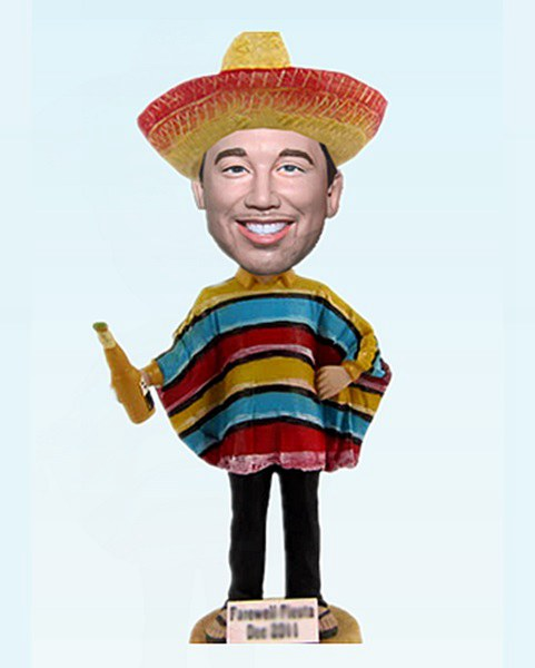 Custom Casual Man with Mexican Costume bobblehead