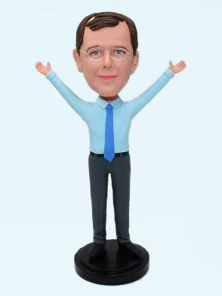 Custom Custom bobbleheads cheer office man