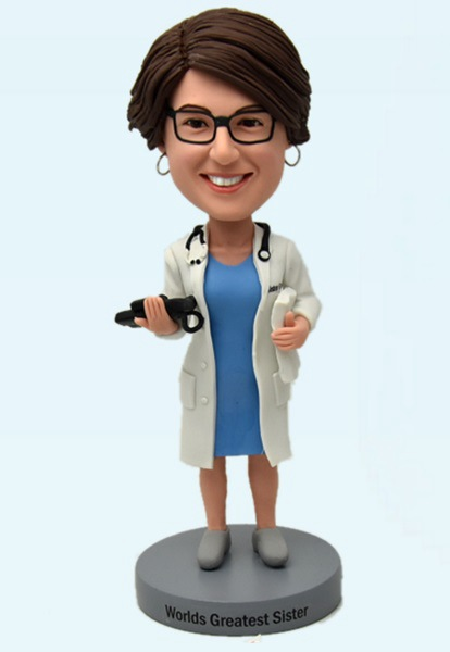 Custom Custom Bobblehead Female Doctor
