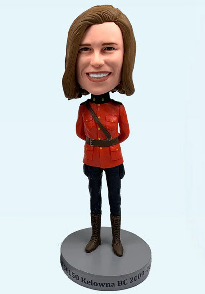 Custom Custom Bobblehead Female RCMP Officers