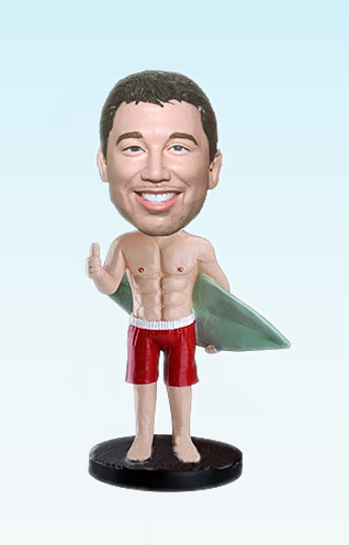 Custom Surfing man bobblehead