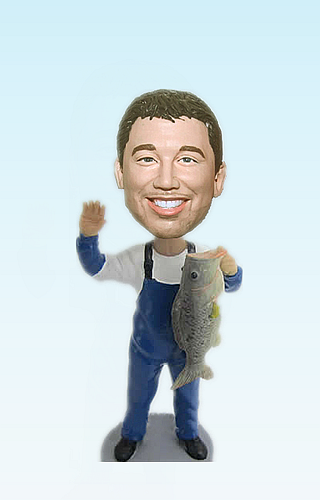 Custom Fisherman Personalized bobblehead