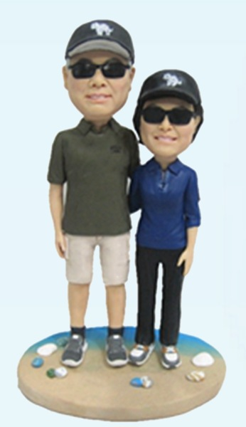 Custom 40th wedding anniversary bobbleheads