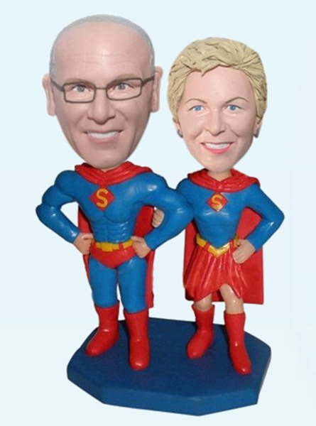 Custom Superman couple bobblehead