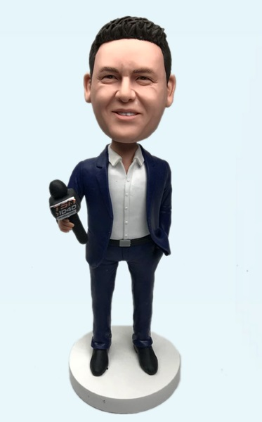 Custom Personalized Bobblehead Reporter