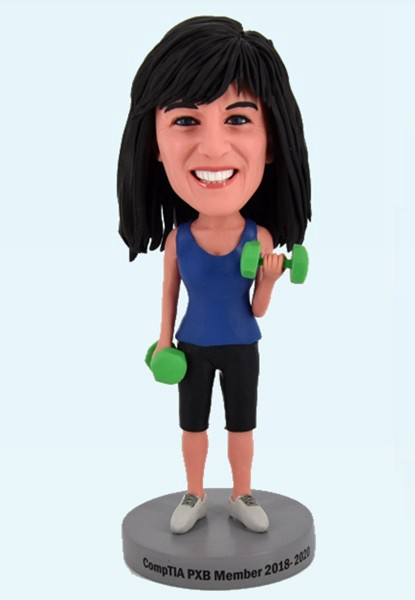 Custom Custom Bobblehead Female Fitness