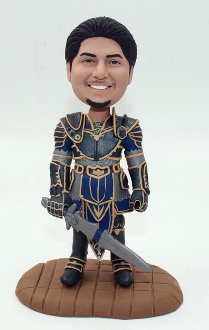 Custom World of Warcraft Lothar bobbleheads