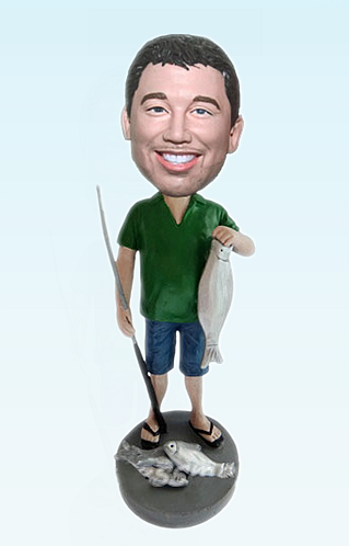 Custom Big catch fisherman bobblehead