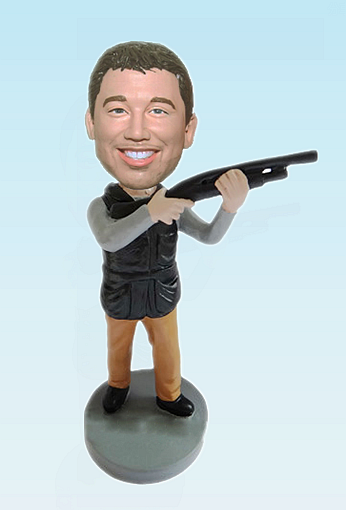 Custom Personalized Bobblehead Hunter