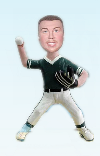 Custom Baseball pitcher custom bobbleheads