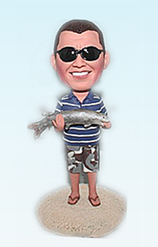 Custom Fishing custom bobble head