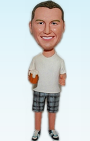 Custom Man with beer bobblehead