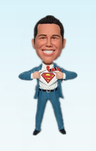 Custom Superman transform bobblehead