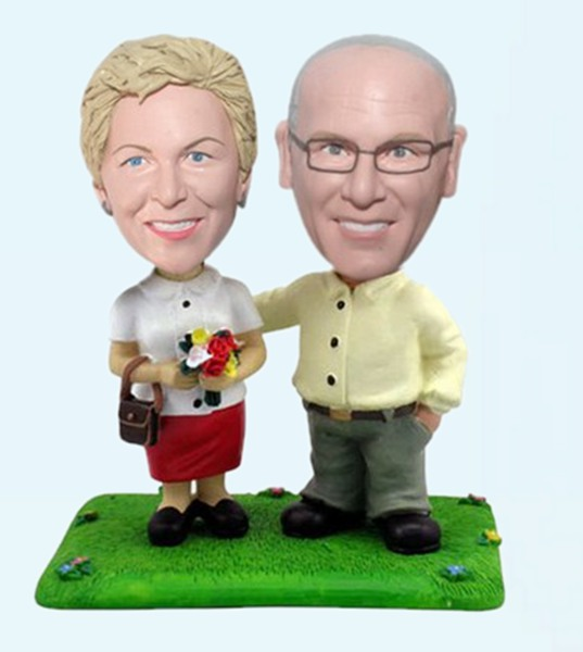 Custom Love story couple bobblehead