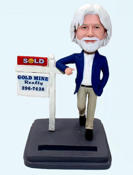 Custom Custom realtor bobbleheds
