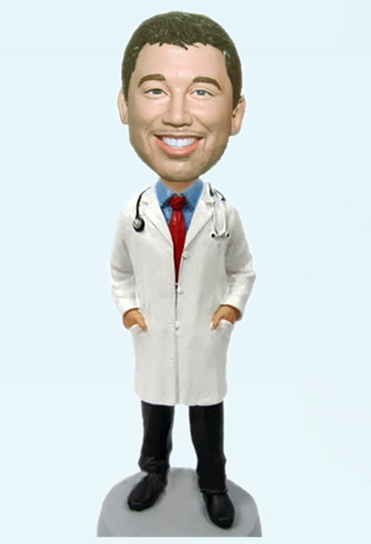 Custom Man Doctor bobblehead
