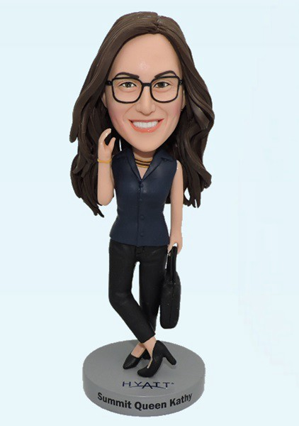 Custom Custom Bobblehead For Office Lady