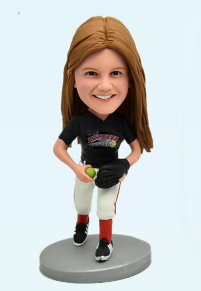 Custom Custom Bobblehead Softball